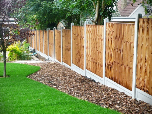 wood garden fence construction done by ACH Landscapes in Essex