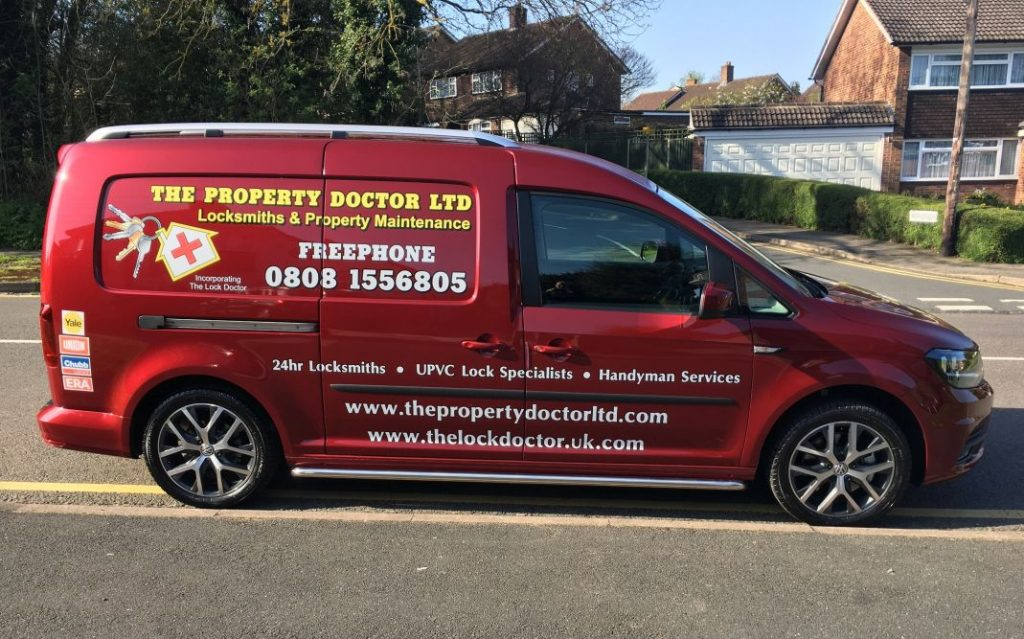 The Lock Doctor Red Van